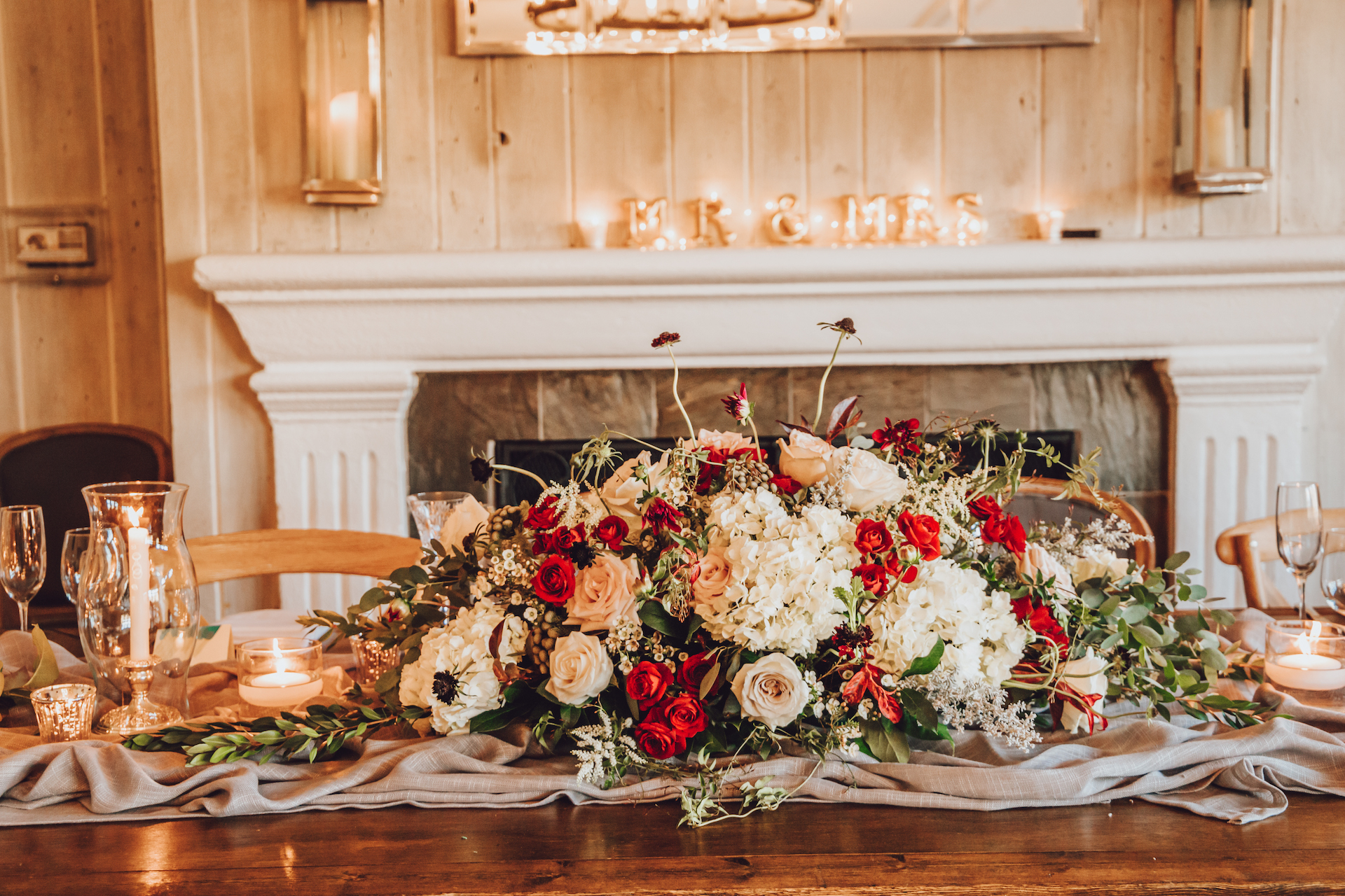 malibou lake lodge wedding reception details