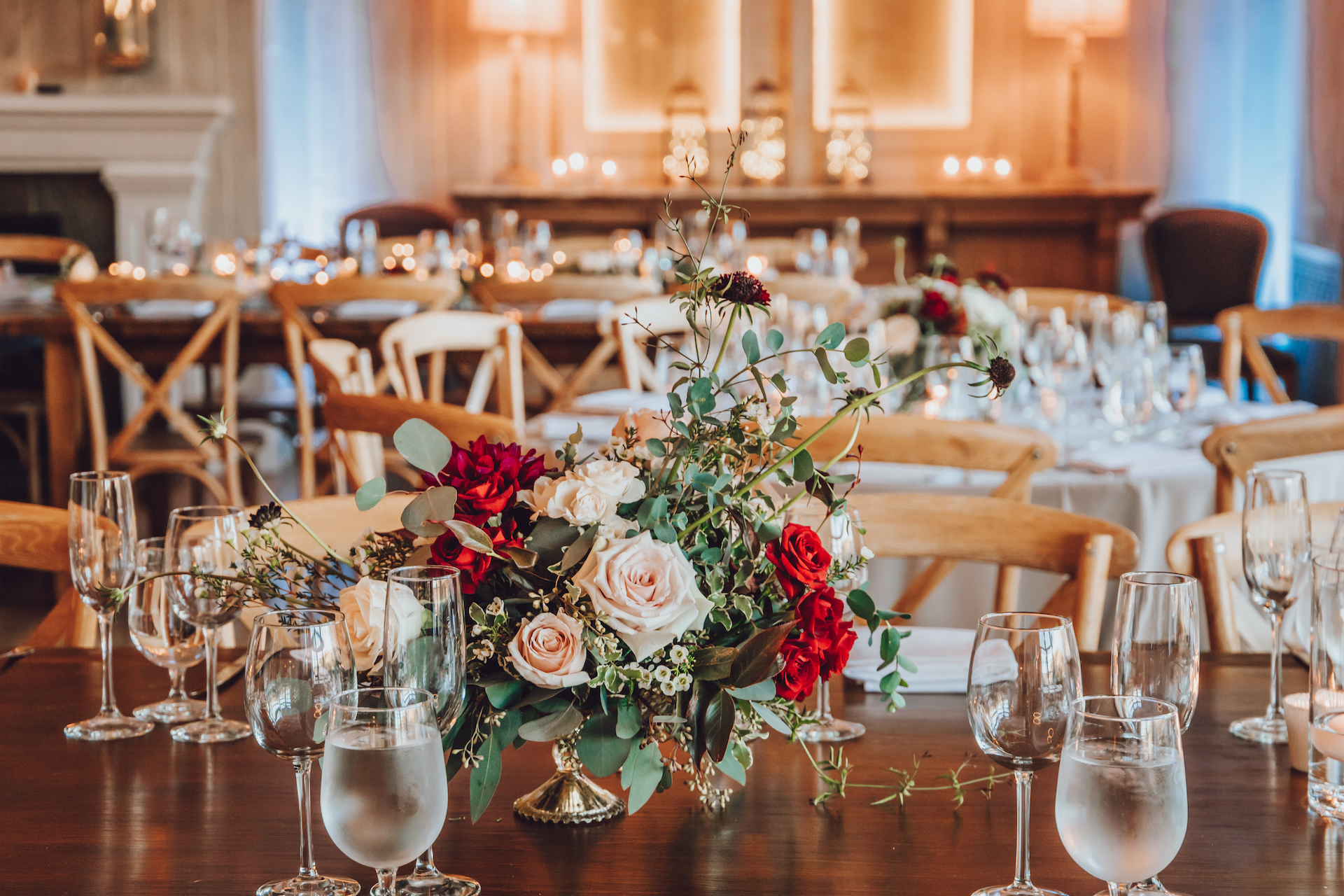 malibou lake lodge wedding reception details