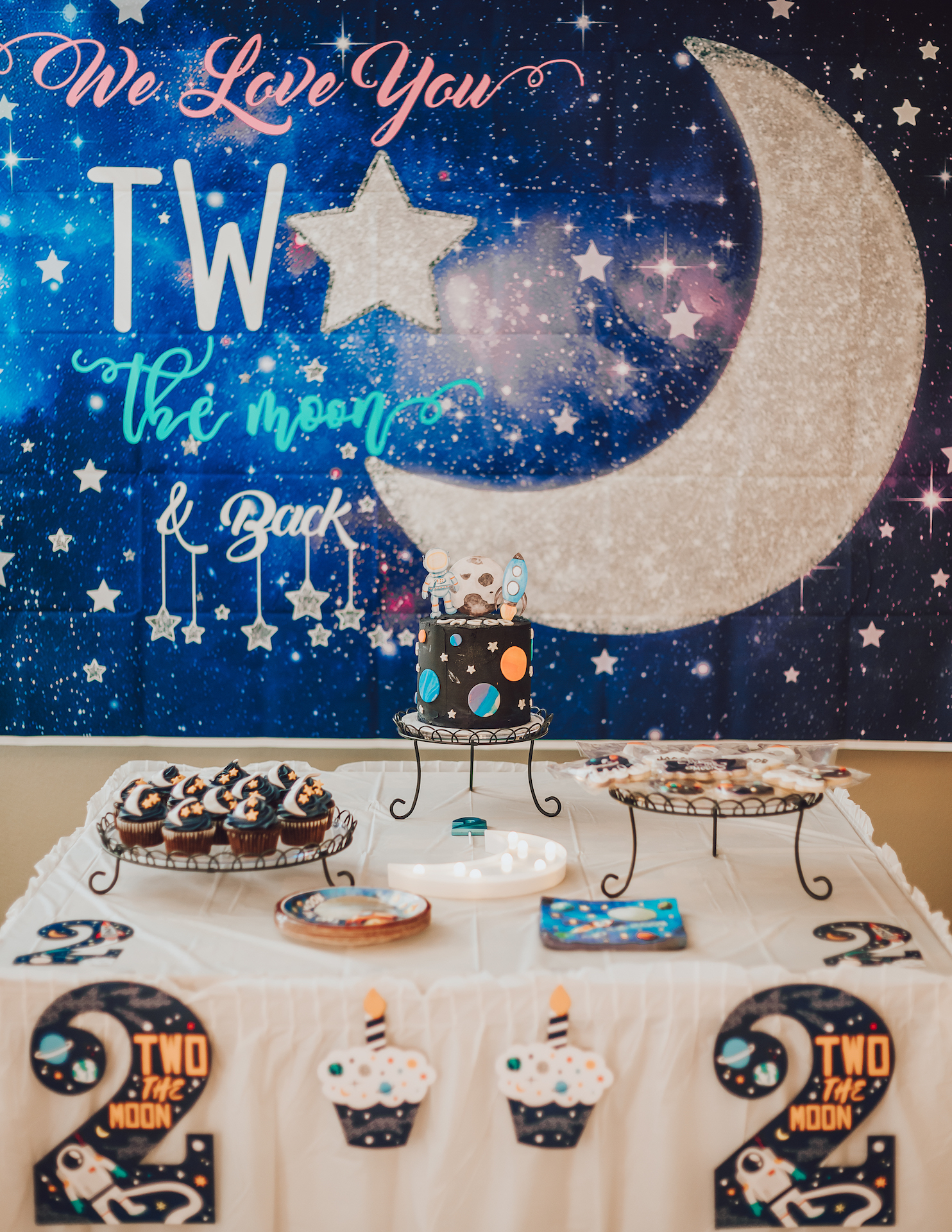 two the moon second birthday photos