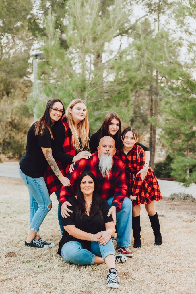 canyon country christmas family photos