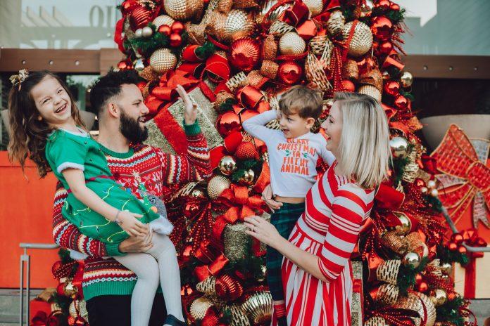 Newhall library christmas family photos